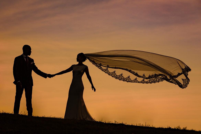 bruidsfotografie silhout